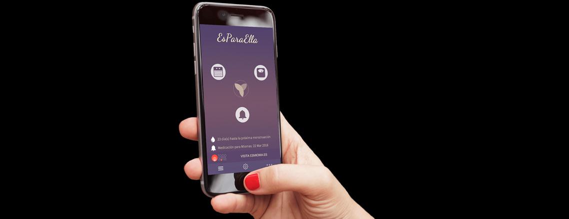 Controla tu regla y los síntomas de los miomas con la nueva App EsParaElla